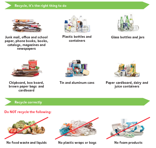 What to Recycle Infographic