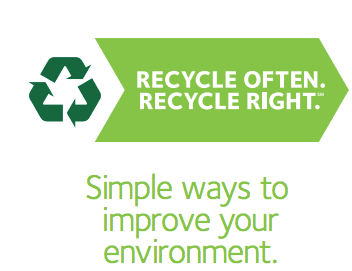 Recycle Often. Recycle Right. Simple ways to improve your environment.