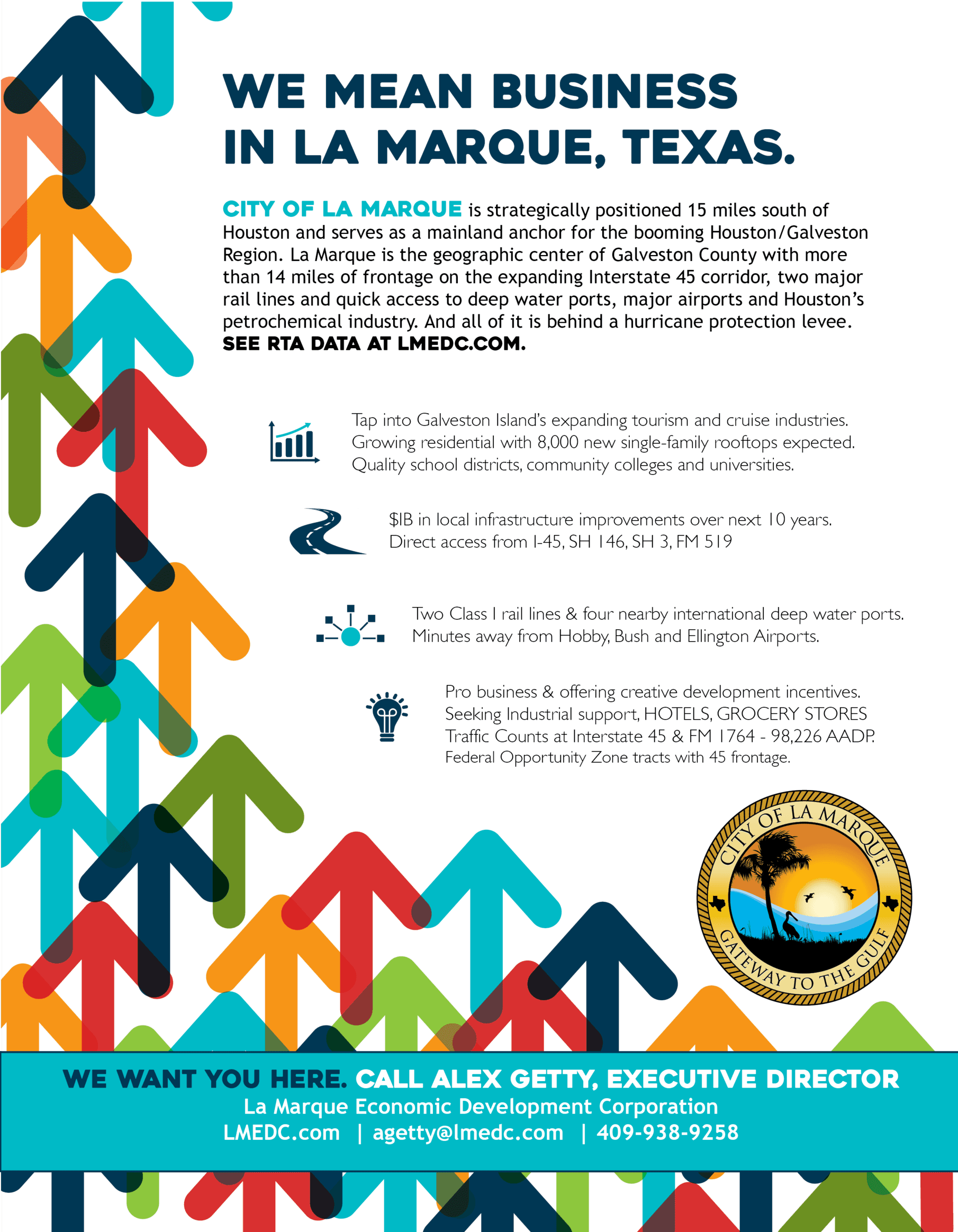 La Marque Texas Economic Development Flyer