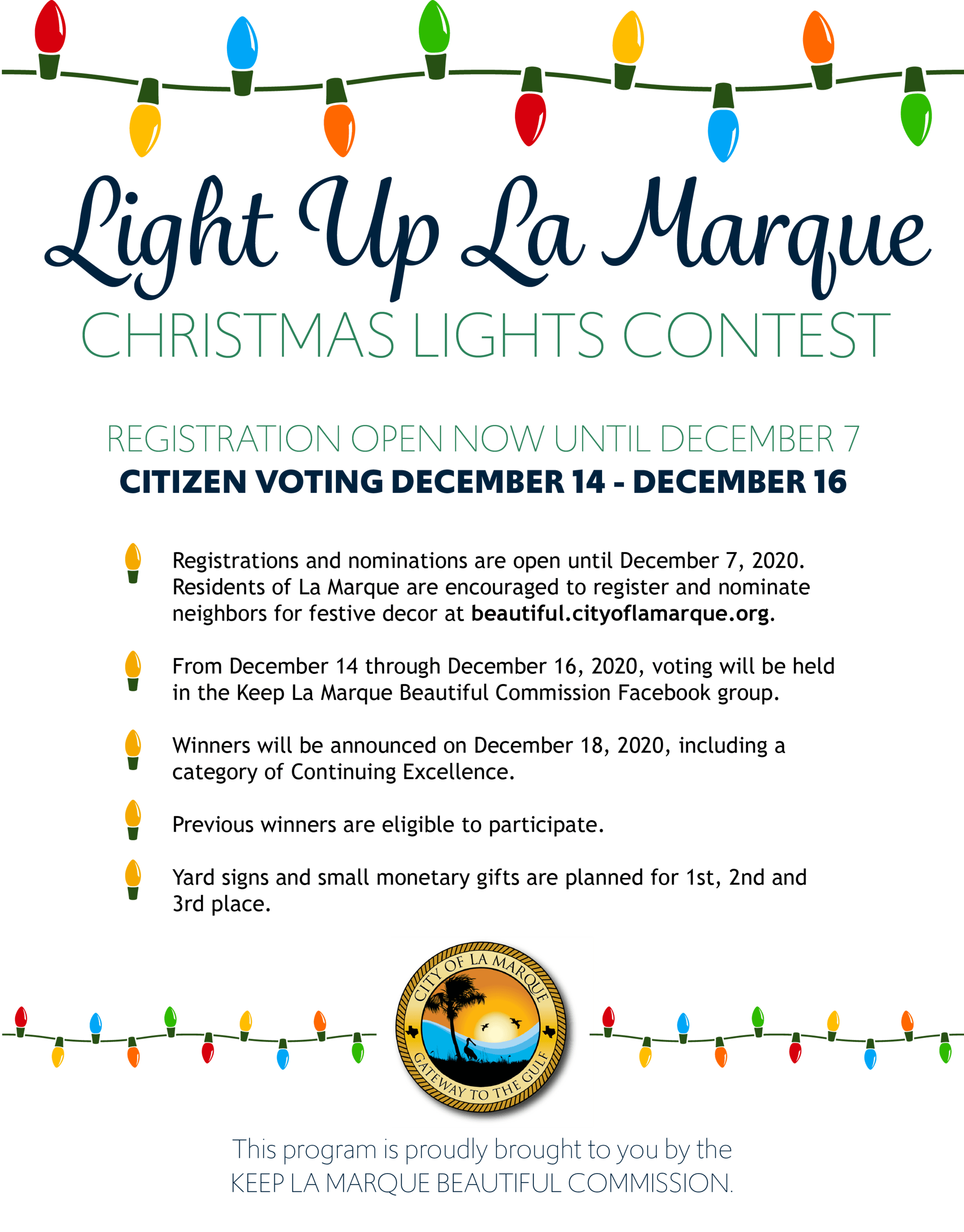 Christmas Lights In La 2020 Christmas Lights Contest | La Marque, TX   Official Website