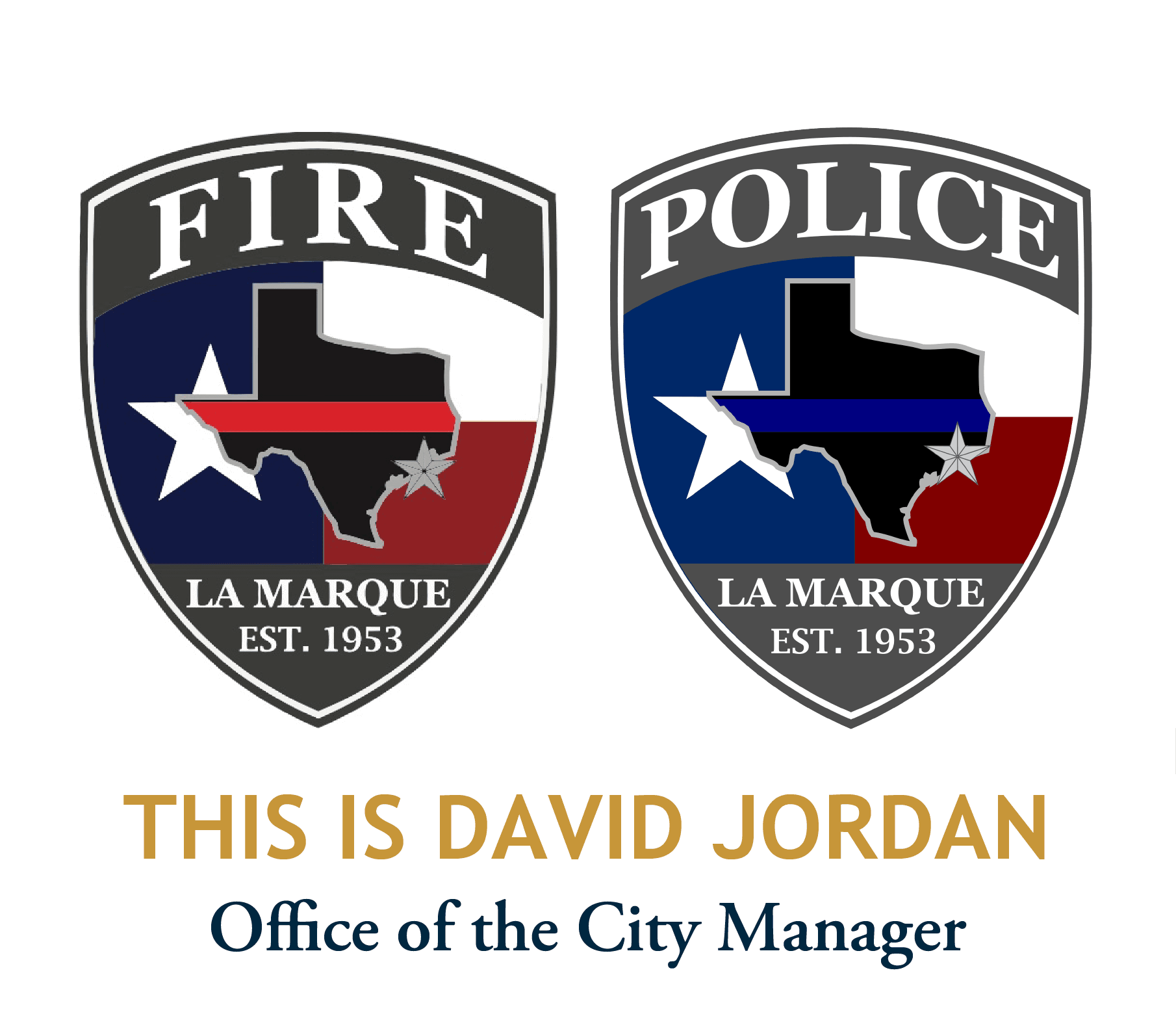 This is David Jordan_graphic with police and fire patch logos